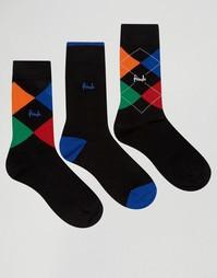 3 пары черных носков Pringle Waverley - Черный