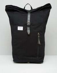 Черный рюкзак роллтоп Sandqvist Dante - Черный