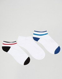 3 пары носков в спортивном стиле Pringle - Белый