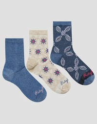 Набор из 3 пар носков Ruby Rocks - Мульти