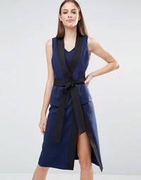 Платье миди Lavish Alice - Темно-синий