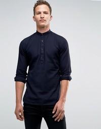 Рубашка кроя слим с воротником на пуговицах Jack & Jones Premium - Темно-синий
