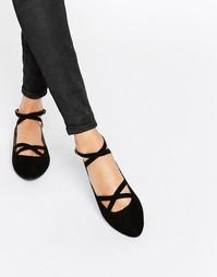 Черные туфли на плоской подошве Head Over Heels By Dune Helenna - Черный