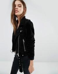 Замшевая байкерская куртка Blank NYC - Черный