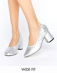Туфли на каблуке для широкой стопы ASOS SIMONE - Серебряный