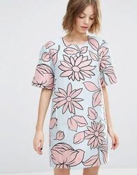 Жаккардовое платье с цветочным дизайном Paul and Joe Sister - Синий