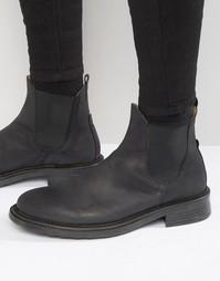 Ботинки челси из нубука Hudson London Denne - Черный