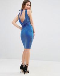 Платье с блестками и завязкой сзади Jessica Wright - Синий