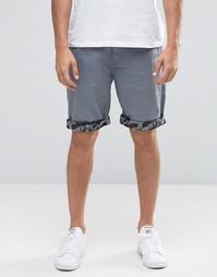 Узкие джинсовые шорты ASOS - Синий