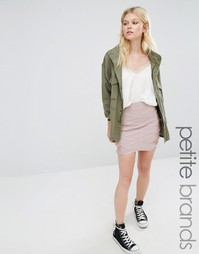 Missguided Petite Premium Bandage Mini Skirt - Фиолетовый
