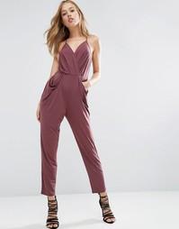 Комбинезон с драпированными карманами BCBG Generation - Фиолетовый