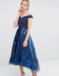 Платье с открытыми плечами Coast Roccabella - Темно-синий