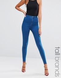 Стретчевые джинсы с завышенной талией Missguided Tall - Синий