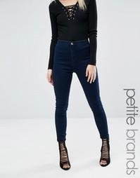 Облегающие джинсы стретч с высокой талией Missguided Petite Vice - Синий
