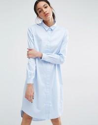 Платье-рубашка Just Female Gents - Синий