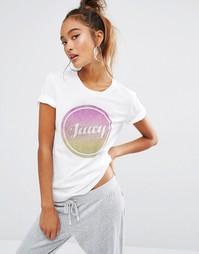 Топ с отделкой блестками Juicy Couture Juicy - Белый