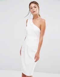 Платье миди на одно плечо Stylestalker - Белый