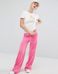 Велюровые джоггеры Juicy Couture Bling Malibu - Розовый