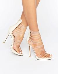 Босоножки на каблуке с прозрачными ремешками Public Desire Imani - Мульти