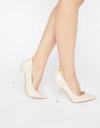 Туфли-лодочки телесного цвета Public Desire Josie - Черный