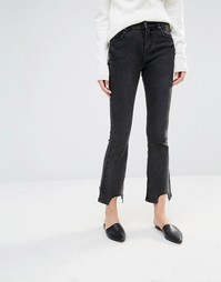 Укороченные расклешенные джинсы Asilio - Синий