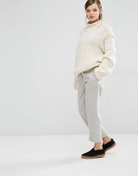 Серые фланелевые брюки Samsoe & Samsoe Lienne - Серый
