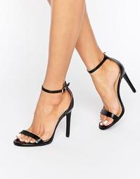 Черные сандалии на каблуке Public Desire Avril - Черный