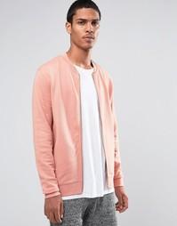Розовая трикотажная куртка‑пилот ASOS - Розовый
