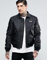 Нейлоновая куртка-пилот Schott - Черный