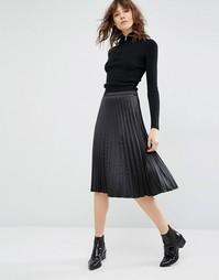 Черная плиссированная юбка миди Gestuz Mayla - Черный