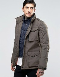 Куртка с имитацией вставки Schott - Зеленый
