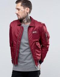 Нейлоновая куртка-пилот Schott - Красный