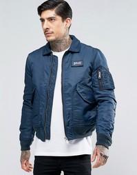 Нейлоновая куртка-пилот Schott - Темно-синий