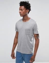 Футболка с контрастным карманом Selected Homme - Серый