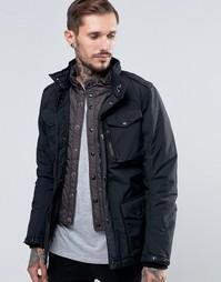 Куртка с имитацией вставки Schott - Черный