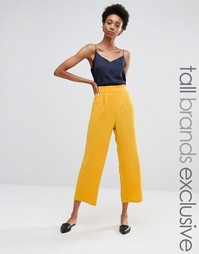Укороченные брюки с широкими штанинами Alter Tall - Желтый