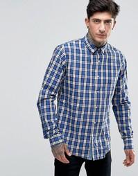 Рубашка классического кроя в темно-синюю клетку Scotch & Soda - Темно-синий