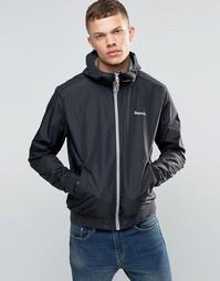 Легкая черная куртка на молнии Bench - Черный