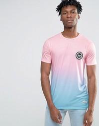 Футболка с логотипом на груди и эффектом омбре Hype - Розовый
