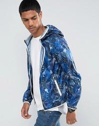 Легкая куртка с капюшоном и сплошным принтом Celio - Темно-синий