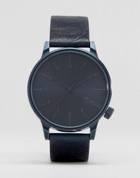 Часы с синим кожаным ремешком Komono Winston - Синий