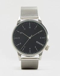 Серебристые часы с сетчатым браслетом Komono Winston Royale - Серебряный