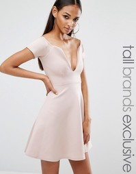 Приталенное платье миди Missguided Tall - Фиолетовый