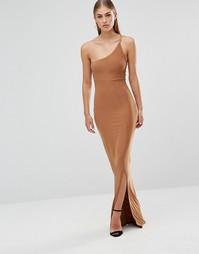 Платье макси на одно плечо Missguided - Золотой