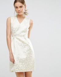 Жаккардовое платье Uttam Boutique - Золотой