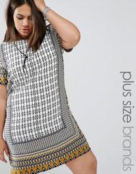 Цельнокройное платье с мозаичным принтом Alice & You - Мульти