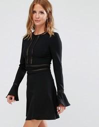 Платье с рукавами-клеш Millie Mackintosh - Черный