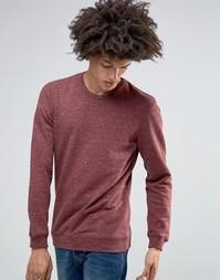 Меланжевый свитшот с круглым вырезом Minimum Fedel - Красный