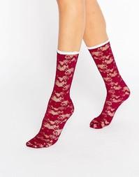 Кружевные носки Gipsy - Красный