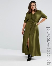 Чайное платье макси с поясом Alice & You - Зеленый
